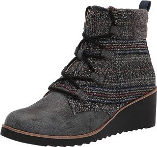حذاء برقبة حتى الكاحل للنساء من LifeStride ، رمادي متعدد مخطط، عرض 9. 5