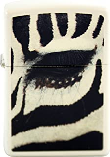 Zippo Custom Design Lighter Zebra Eye White Matte Windproof Collectible Lighter. Made in USA Limited Edition & Rare