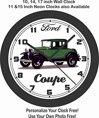 amazon jim s classic clocks 1949 1954 john deere model r diesel 1932 Ford Convertible jim s classic clocks 1930 ford coupe wall clock free usa ship
