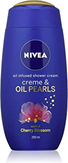 NIVEA Creme & Oil Pearls Cherry Blossom Shower Cream, 250 ml