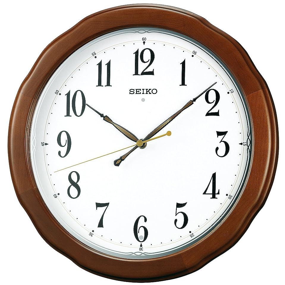 パーティー磁石消費者セイコー クロック 掛け時計 電波 アナログ 木枠 茶 木地 KX326B SEIKO