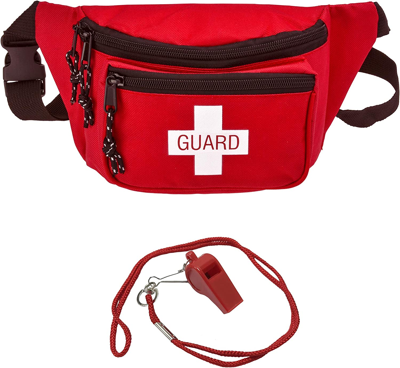 Lifeguard Fanny Pack With Whistle Tulsa Mall Tulsa Mall First Lanyard - Style Baywatch