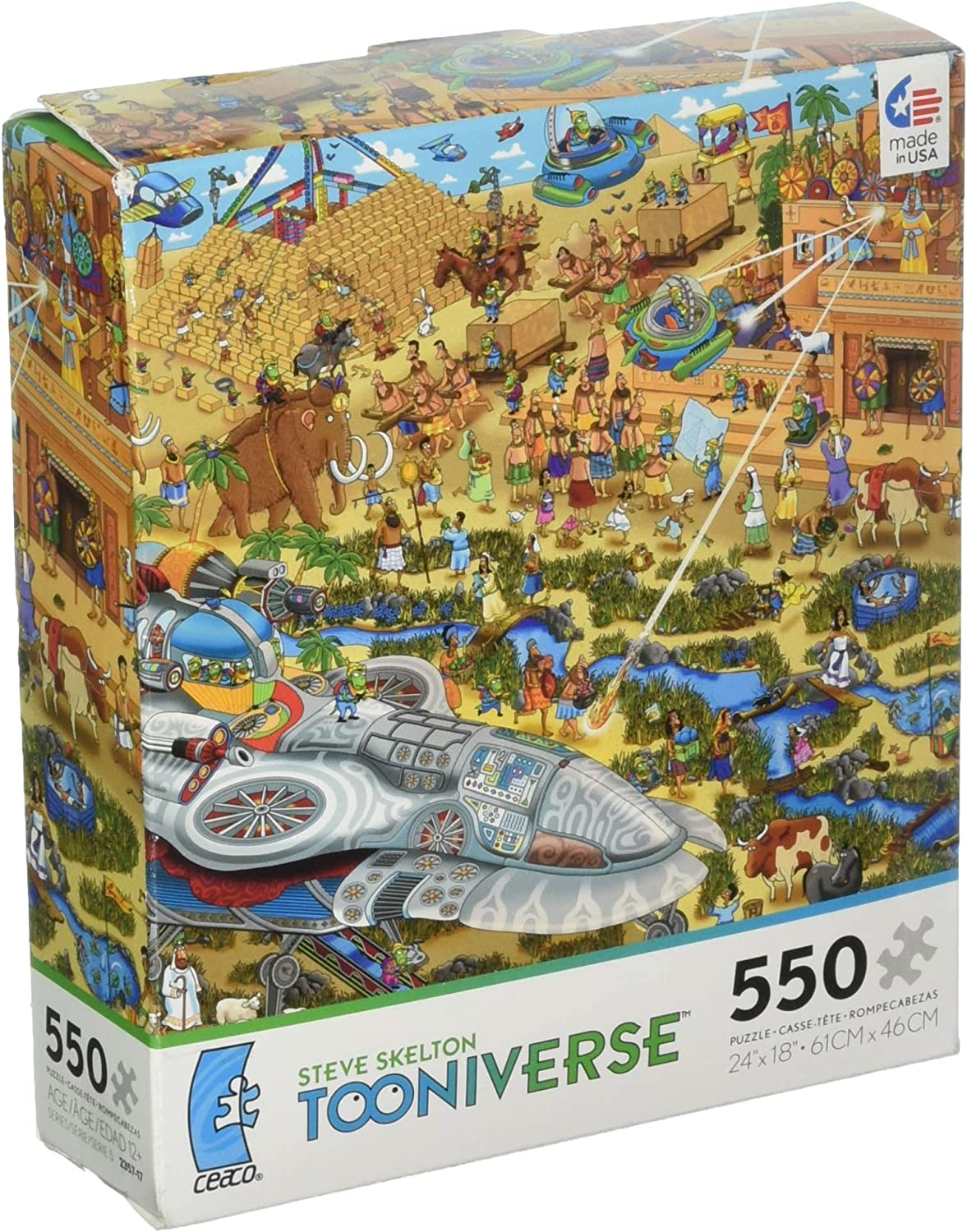 Games  Ceaco  550 Piece Tooniverse Building the Pyramids Kids New Toys 23572