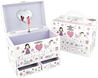 Floss & Rock FR34P2363 Glittered Fairy Blossom Jewellery Box