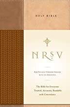 NRSV, Standard Bible with Apocrypha, Hardcover, Tan/Brown: The Bible for Everyone: Trusted, Accurate, Readable