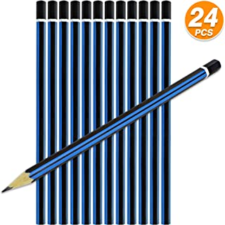Emraw Pre Sharpened 2B Pencils Pack Bundle for Tests Exam Writing Drawing Sketching - Bulk Pack of 24 Pencil