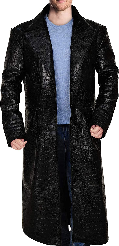 TrendHoop Men Black Aligator Sale Regular dealer price Crocodile Sty Embossed Open Leather