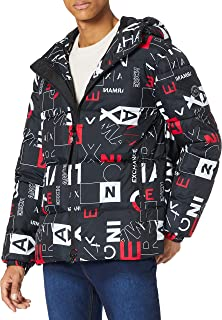 Armani Exchange Men's All Over Printed Puffer Quilted Jacket