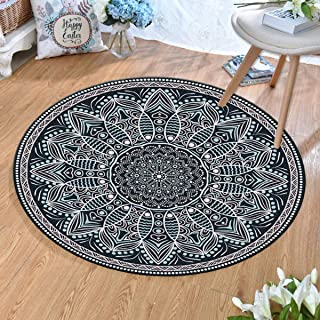 Round Rugs Thin and Light Carpet,for Living Room & Bedroom & Computer Chair Non-Slip Short Hairs Mats (Size : 60CM),7