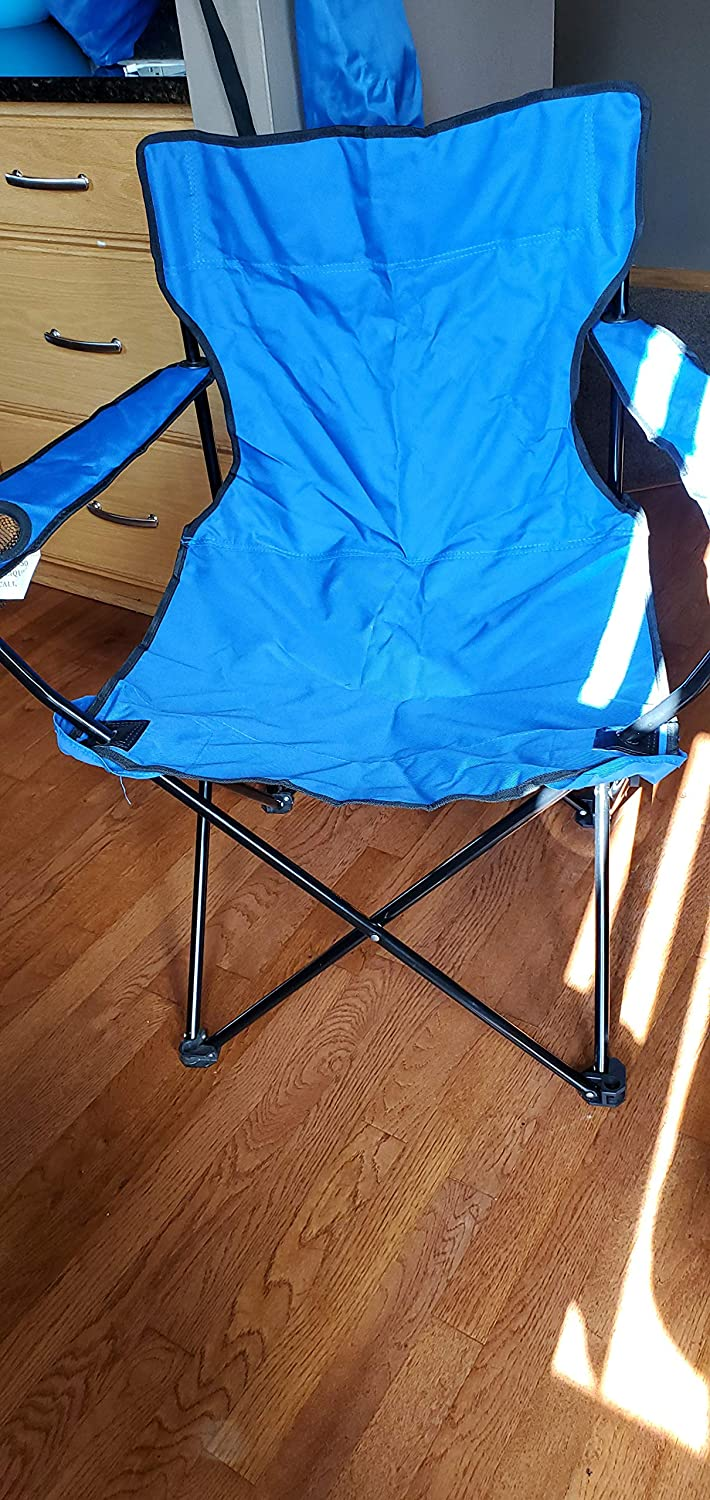 Royal Blue Camping Chair with Carrying Bag