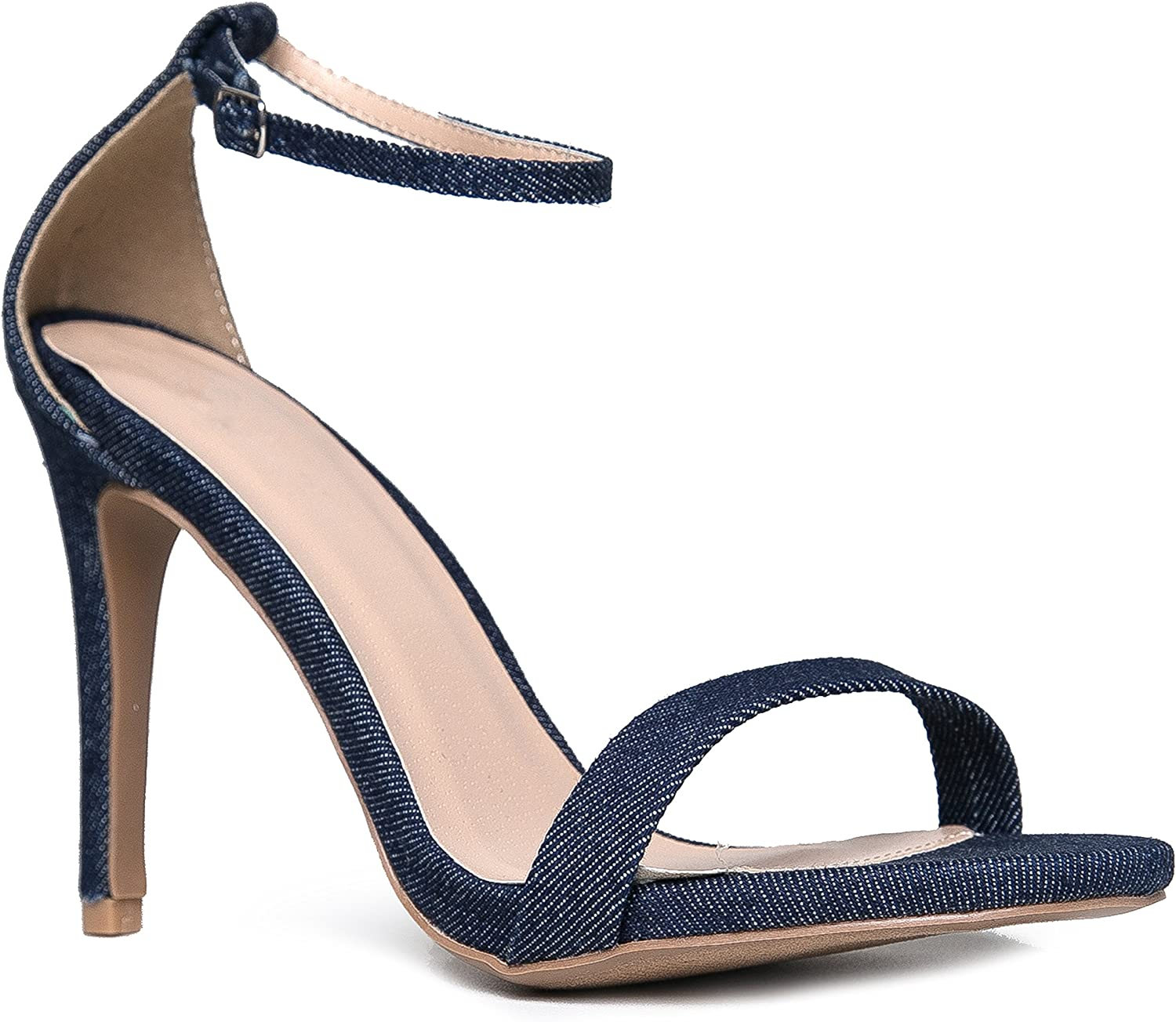 J. Adams Ankle Strap High Heel Sandal - Strappy Buckle shoes -Dress Wedding Party Bridal Pump - Aria