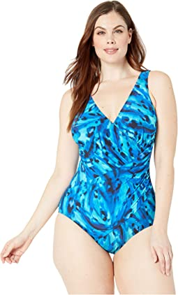 Plus Size Ocean Ocelot Oceanus One-Piece
