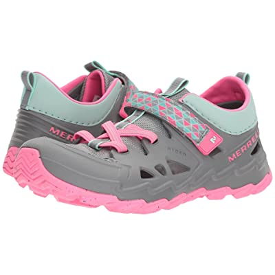 Merrell Kids Hydro 2.0 (Big Kid) (Grey/Pjnk) Girls Shoes