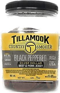 TILLAMOOK Silver Dollars - Beef & Pork Jerky (Peppered),13oz 80ct