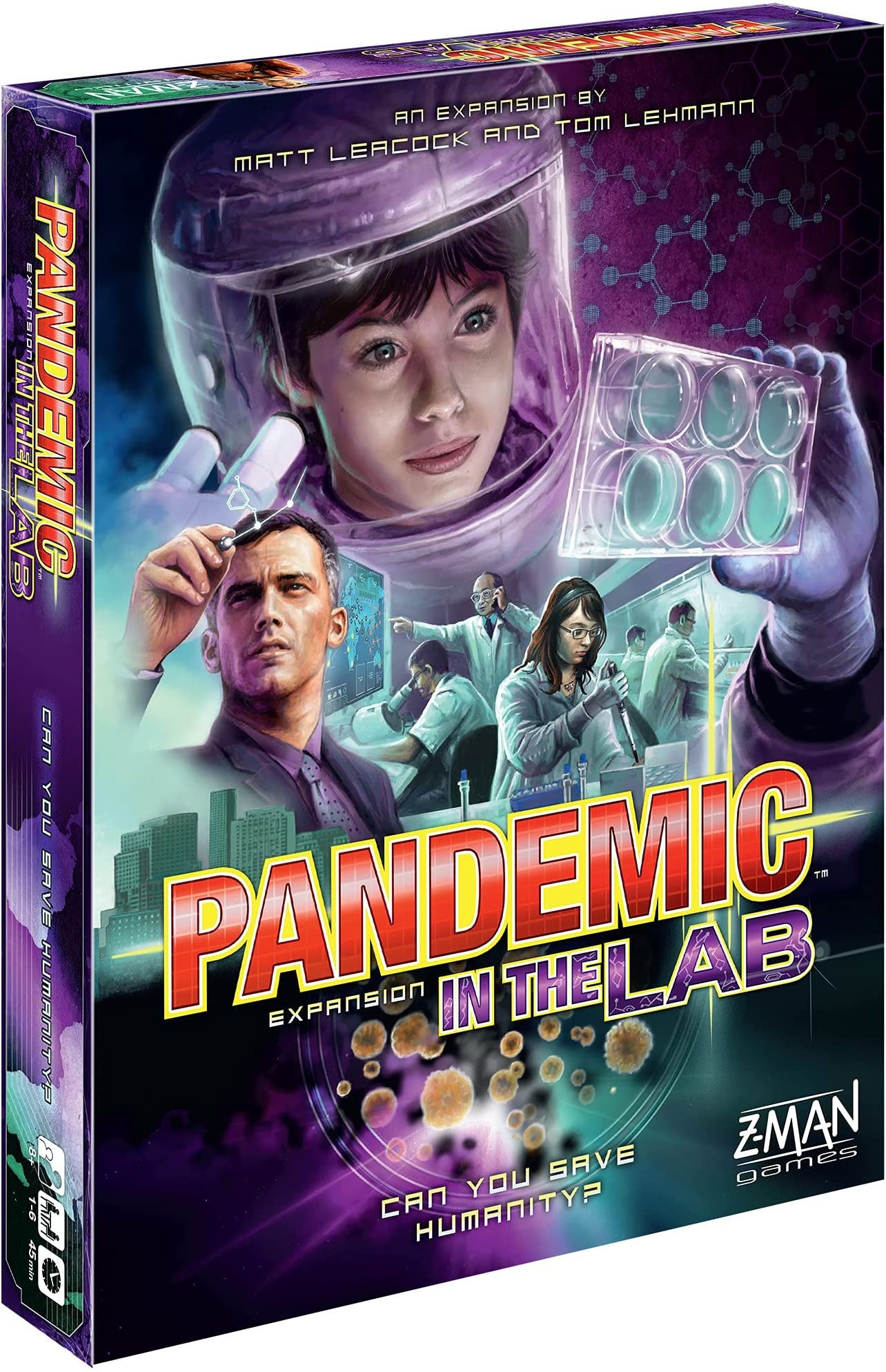 Pandemic in the Lab Board Game EXPANSION | Family Board Game | Strategy Board Game | Cooperative Board Game | Ages 8+ | 1 to 6 players | Average Playtime 45 minutes | Made by Z-Man Games