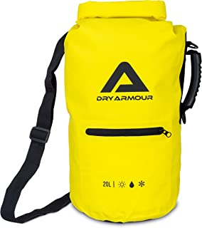 20L Waterproof Roll Top Dry Bag Yellow - Designed to Keep Items Dry & Protected - Made for the Outdoors