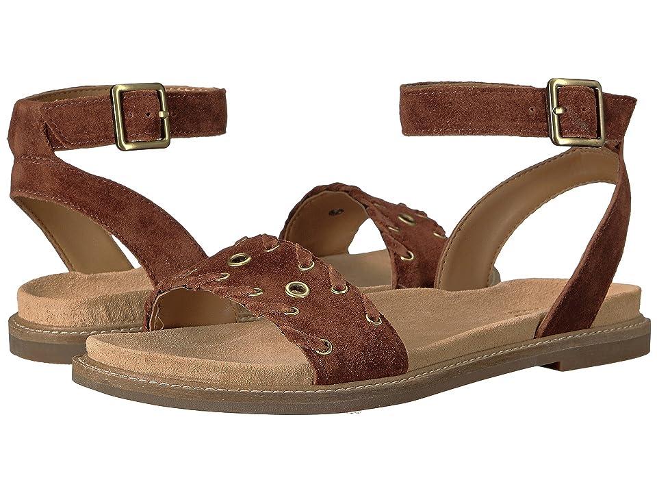 Clarks Corsio Amelia (Dark Tan Suede) Women's Sandals