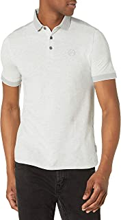 A|X Armani Exchange Men's Pique Polo, Heather Grey, M