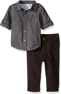 Calvin Klein Baby Shirt and Twill Pants Set