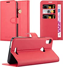 Cadorabo Book Case Works with WIKO View MAX in Candy Apple RED – with Magnetic Closure, Stand Function and Card Slot – Wallet Etui Cover Pouch PU Leather Flip