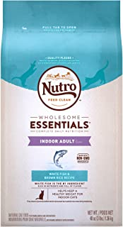 NUTRO WHOLESOME ESSENTIALS Adult Indoor Natural Dry Cat Food for Healthy Weight White Fish & Brown Rice Recipe, 3 lb. Bag