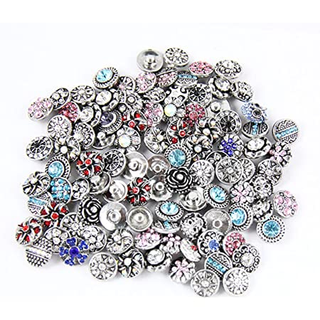 Clear White Triple Rhinestone 20mm Snap Charm Interchangeable For Ginger Snaps
