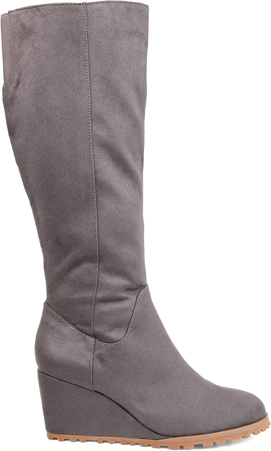 Comfort by Brinley Co. Womens Regular, Wide Calf, Extra Wide Calf Wedge Boot