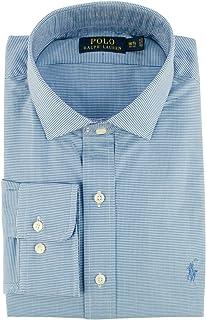 Men's Classic Fit Herringbone Dress Shirt-BluW-15-34/35...