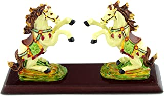 Feng Shui Two Horses Pair of Horse Flying Victory Statue