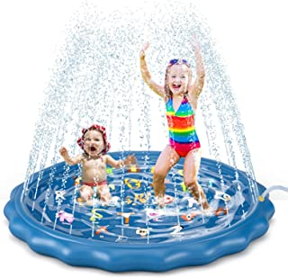 """Jasonwell Splash Pad Sprinkler for Kids Toddlers Play Mat 60"""" Inflatable Baby Wading Pool Summer Outdoor Water Toys for Ch..."""