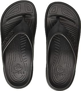crocs Unisex Baya Black Flip Flops Thong Sandals