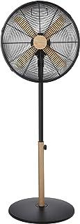 Russell Hobbs RHMPF1601WDB Pedestal Fan, 60 W, Black with Wood Effect Trim
