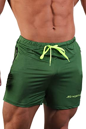 d4af674fc Jed North Men's Fitted Shorts Bodybuilding Workout Gym Running Tight  Lifting Shorts