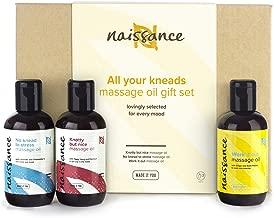 """Naissance""""All Your Kneads'"""" Set Regalo Aceites de Masaje Selección para cualquier ocasión - Sensual, Relajante y Molestias musculares"""