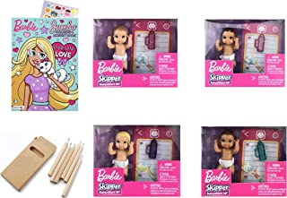 Papartyy Bundle of 4 Skipper Dolls Accessories for Barbie Babysitter Inc Story Pack Including Diaper Blanket Baby Bottle R...