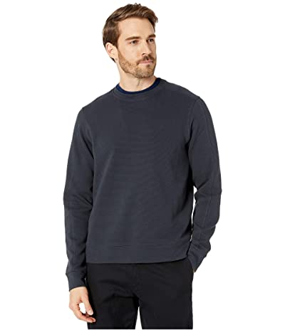 Perry Ellis Ottoman Rib Knit Long Sleeve Shirt (Dark Sapphire) Men