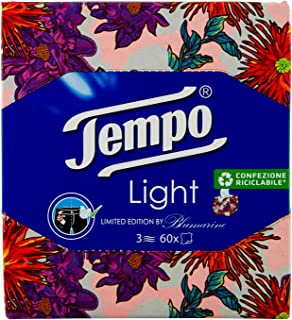 Tempo - TEMPO FAZZOLETTI BOX LIGHT 3 VELI 60 PZ ASSORTITO - 60 PZ