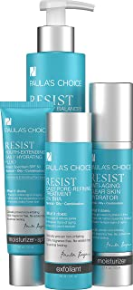 Paula's Choice RESIST Essential Kit for Wrinkles + Breakouts, 4 Product System Reduces Breakouts, Clogged Pores, and Signs of Aging in Skin of the Face and Neck