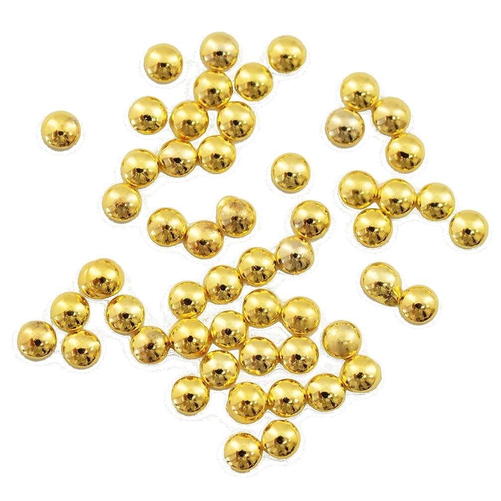 抑圧する今日創造Buddy Style 丸 スタッズ メタルパーツ ネイルパーツ デコパーツ ゴールド1.5mm 50個入り