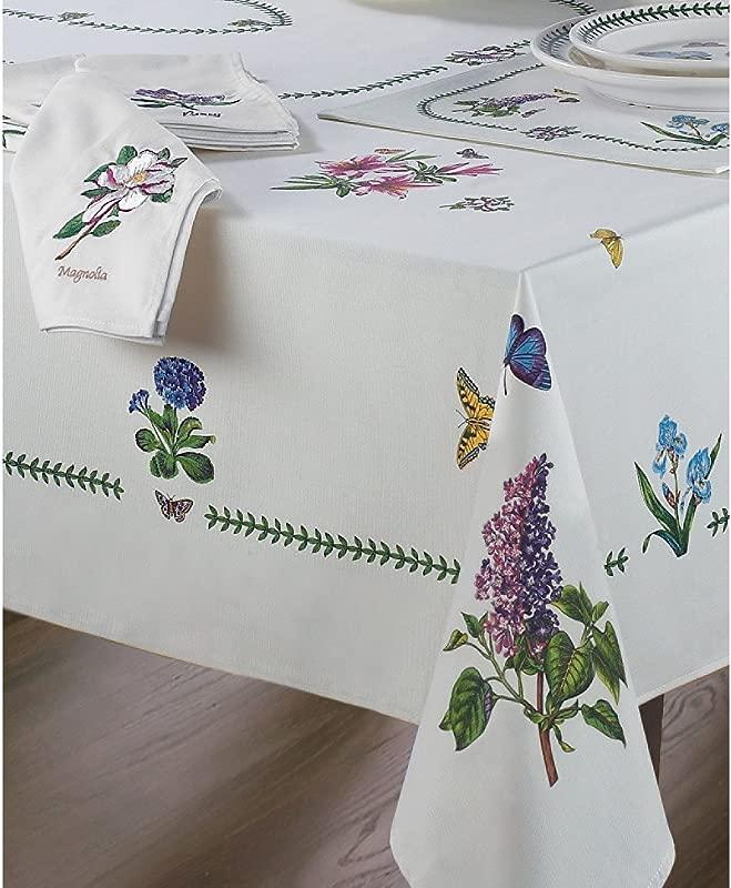 Avanti Linens Botanic Garden 60X84 Table Cloth Ivory