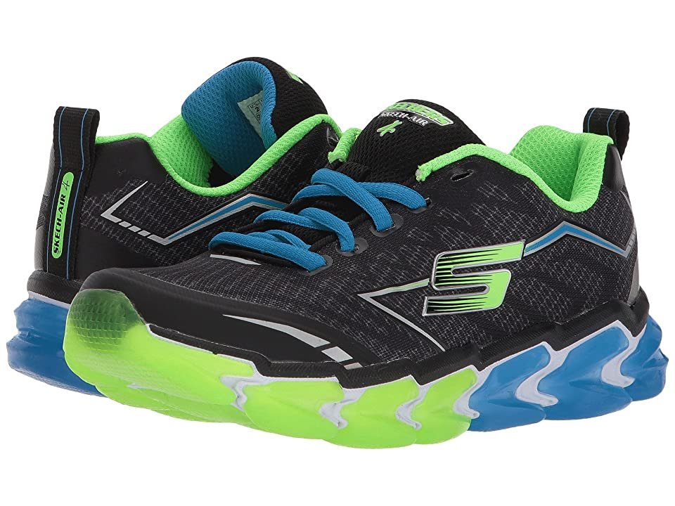 SKECHERS KIDS Skech Air 4 97725L (Little Kid/Big Kid) (Black/Blue/Lime) Boy