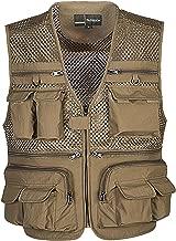 Flygo Mens Summer Outdoor Work Safari Fishing Travel Photo Vest with Pockets