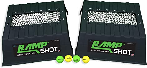 RampShot Game Set- Cornhole on Steroids, Great for Families, Yard, Beach, Tailgate, Camping - Includes 2 Ramps, 4 Balls, 2 Stickers, 2 Nets, and Instructions