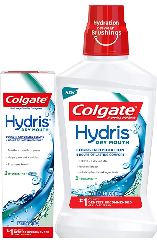 Colgate Hydris Dry Mouth Mouthwash and Toothpaste, 16.9 Fluid Ounce - 4.2 Ounce