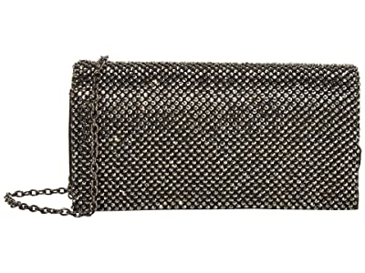 Jessica McClintock Luisa Flap Clutch (Gunmetal) Handbags