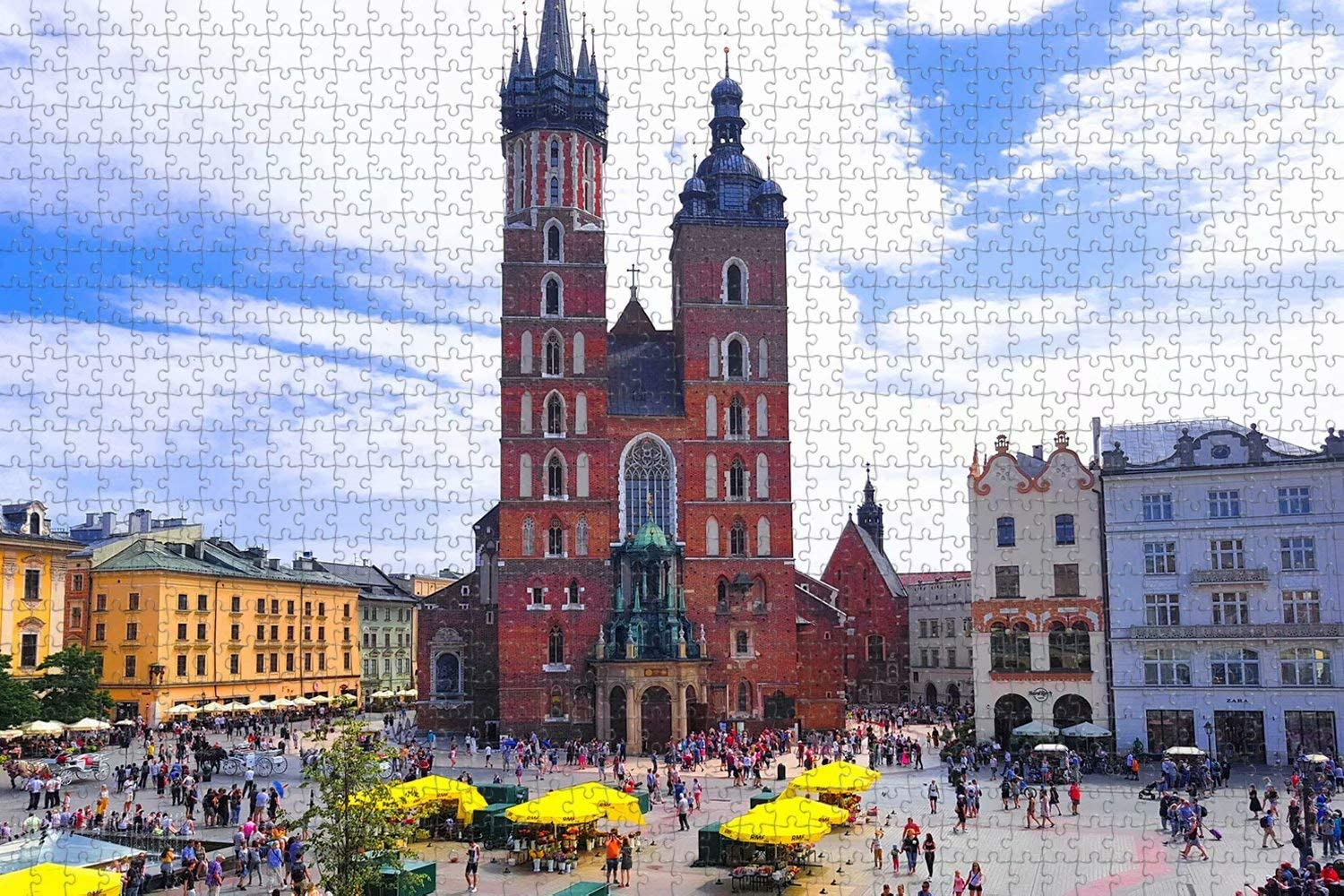 Jigsaw Puzzle for Adults Poland Krakow Puzzl Memphis Don't miss the campaign Mall St. Basilica Mary's