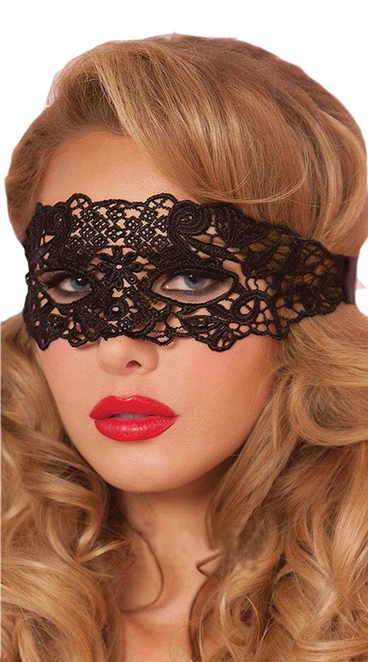 Mordarli Sexy Lady Girl Lace Eye Mask for Halloween Masquerade Party Black