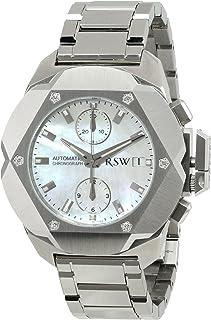 RSWメンズ4400。ms. s0.21.d0Nazca stainless-steelマザーオブパールダイヤモンド自動クロノグラフ腕時計