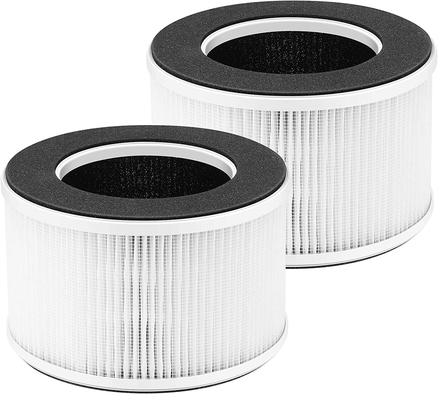 iSingo HME020020N True HEPA Replacement Filter Compatible for hOmeLabs Home 4-in-1 Compact HEPA Air Purifier Models HME020020N, AKJ050GE, 3-in-1 True HEPA Filter, Activated Carbon Filter, and Pre-filter (2-Pack)