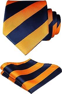 Men's Check Plaid Tie Handkerchief Woven Classic Necktie & Pocket Square Set